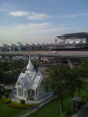 Buddhist temple at Bangkok airport from my hotel window