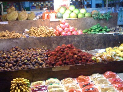 Thai fruit in the night market of Pattaya
