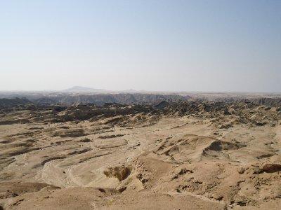 Welwitschia trail - moon landscape near Swakopmund