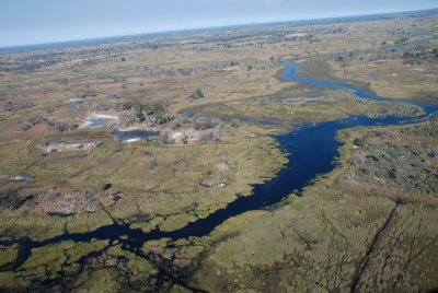 Scenic flight Okavanga Delta