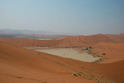 Panoramica de Deadvlei dunas