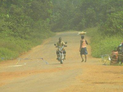 On the way from Buchanan to Monrovia