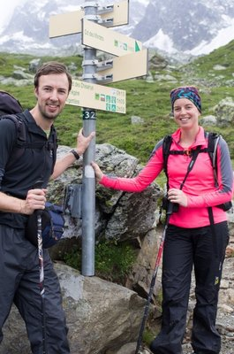 Chris and Jen Parsons on the Tour du Mont Blanc