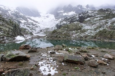 Lac Blanc in the Aiguilles Rouges range