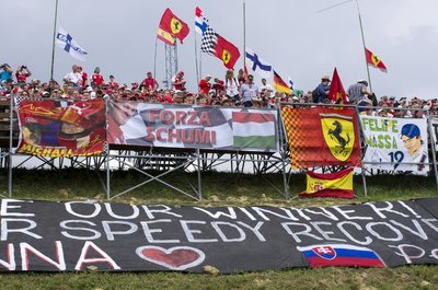Support in the stands for the F1 legend Michael Schumacher