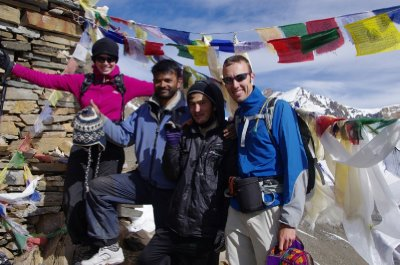 20 October 2011 - All smiles on the Kang La (5200m)