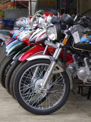 A motorcycle dealership in northwest Vietnam