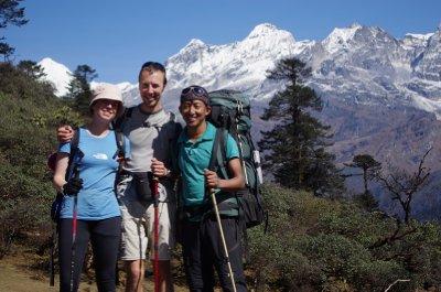 Chris, Jen and Pushpa at Phedang