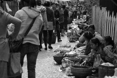 Crowds at Luang Prabang food market