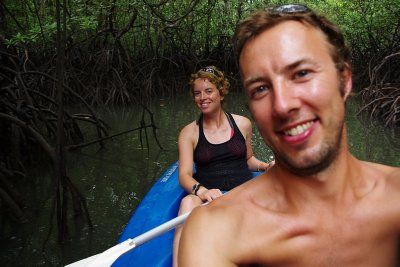 Kayaking in a Malaysian mangrove swamp