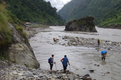 Nepali Legs Aren't Long Enough for River Crossings