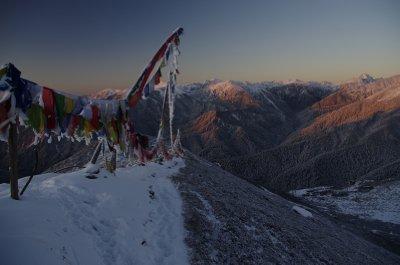The Singalila range on a frosty morning