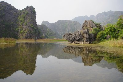 The dramatic karst scenery of Van Long Nature Reserve