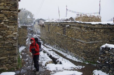 Winter arrives early in Ngawal