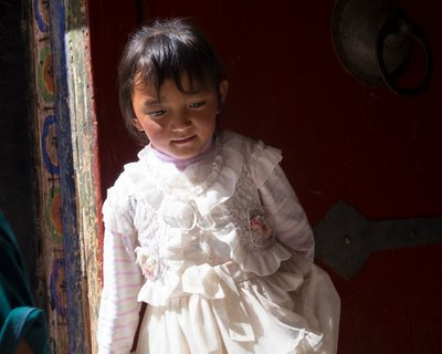 Young girl at Drepung Monastery