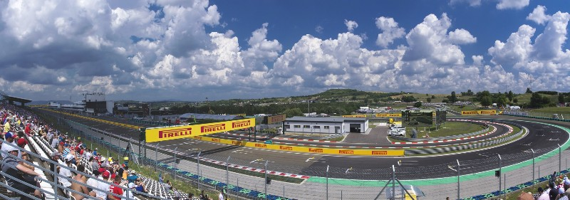 A panoramic view of the Hungaroring from my seat