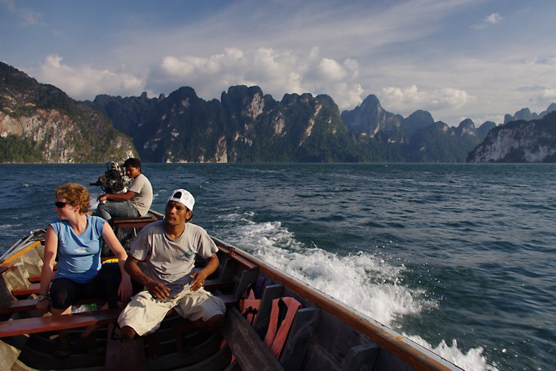 A longtail boat ride through Khao Sok, Thailand's Guilin