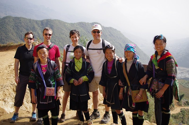 Smiling with our Hmong kidnappers at Sapa
