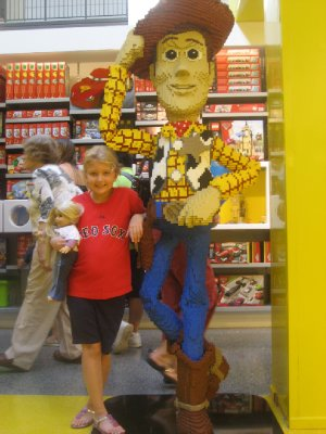 Mia and Lego Woody at Legoland