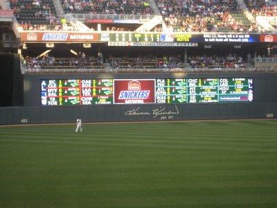Outfield Scoreboard Target Field