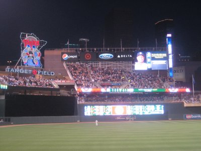 Twins Outfield Scoreboard