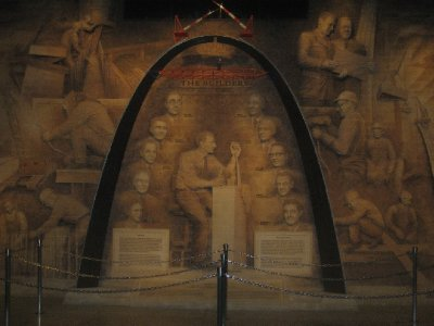 Mural inside the Arch Visitor Center