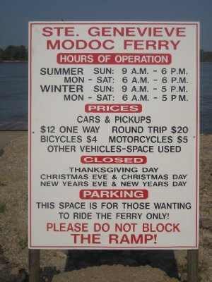 Sainte Genevieve Car Ferry Rates