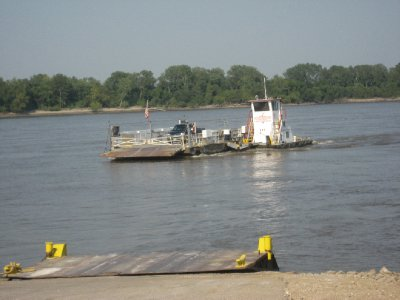 Sainte Genevieve Ferry Coming IN