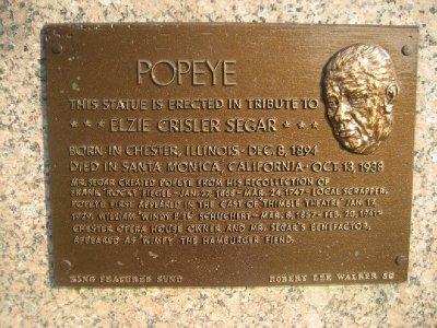 Popeye Plaque