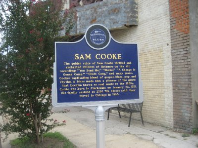 Sam Cooke Sign outside of New Roxy