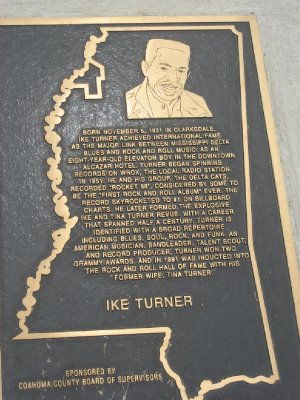 Ike Turner Plaque on Walkway to Delta Blues Museum