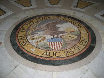 Illinois Seal inside the Illinois Monument at Vicksburg National Military Park