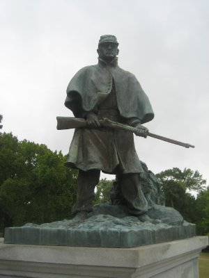 Part of Wisconsin Monument at Vicksburg National Military Park