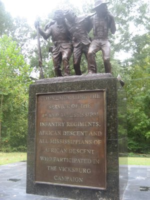 African American Commemoration Plaque for Mississippi 1st and 34th Infantry