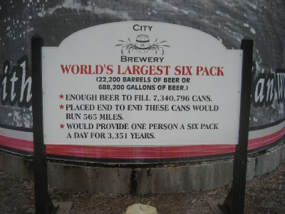 Worlds Largest Six Pack Sign