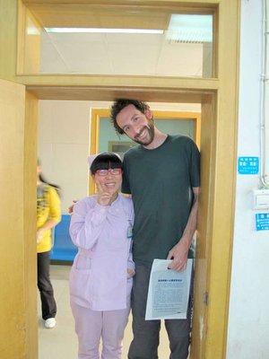Me and a nurse.