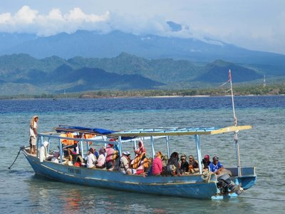 Workers Boat on Gili