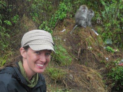 Joanie and Monkey's at Rinjani