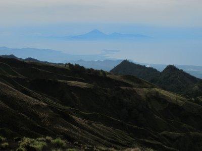 The Gili Islands and Bali from Mount Rinjani's Rim