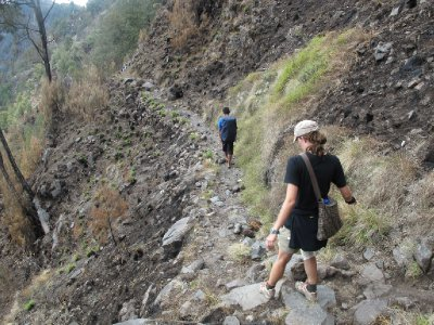 The trail to Mount Rinjani's Crater