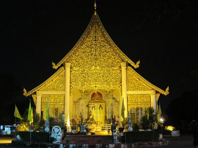 Wat in the old city of Chang Mai