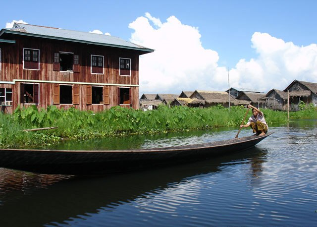 A villager in the village,Inle