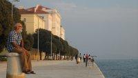 The waterfront promenade in Zadar.
