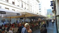 One of the hundreds of cafes in Zagreb.