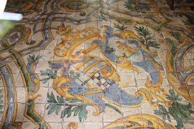 Chateau Chaumont-sur-Loire - Mosaic floor tiles