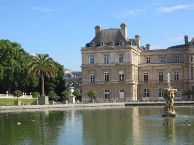 Paris - Luxembourg Palace and fountain