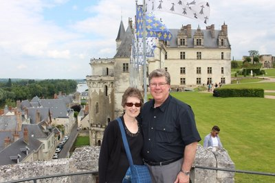 Amboise - Us at the chateau
