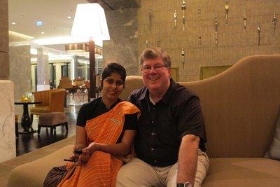 India - Tom with Aradhna