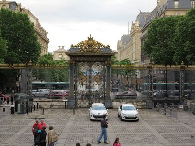 Paris - Palace of Justice Gilded Gates
