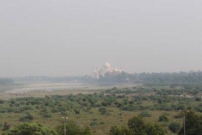 Agra - Taj Mahal from Fort